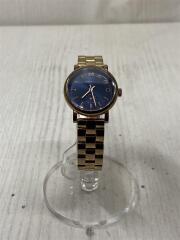 クォーツ腕時計/アナログ/BLK/GLD/111407