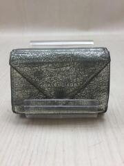 ペーパーミニウォレット/391446/2つ折り財布/レザー/シルバー