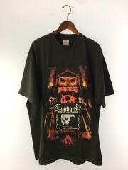 20AW/メタルパッチオーバーサイズTシャツ/Tシャツ/XL/コットン/BLK/UAH21TR550