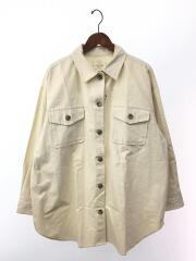 20SS/ビッグルーズシャツ/長袖シャツ/FREE/コットン/アイボリー/無地