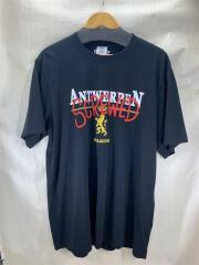 Tシャツ/UAH21TR502/20AW/ANTWERPEN SCREWED T-SHIRT/XL/コットン/ブラック