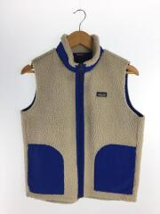 Kids Retro-X Vest/フリースベスト/XL/ポリエステル/白/ホワイト/65619FA19