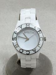 クォーツ腕時計/アナログ/MBM9500/箱有/付属品付/ホワイト