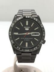 自動巻腕時計/アナログ/ステンレス/BLK/GRY/セイコー/7S26-02T0