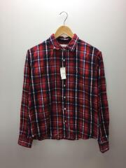 ネルシャツ/XS/コットン/RED/チェック/赤/LUKE/ルーク