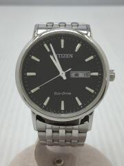 シチズン/GN-0-S→9/クォーツ腕時計/アナログ/BLK/SLV