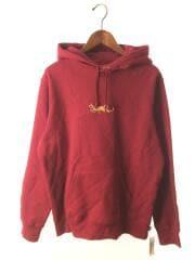 シュプリーム/パーカー/M/コットン/RED/19SS/Tag Logo Hooded Sweatshirt