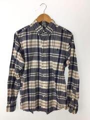 ボタンダウンシャツ/L/コットン/ブルー/チェック