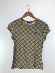 Tシャツ/SIZE:38/コットン/ベージュ/チェック