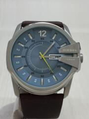 MASTER CHIEF/DZ-1399/クォーツ腕時計/アナログ/レザー/ブルー/ブラウン