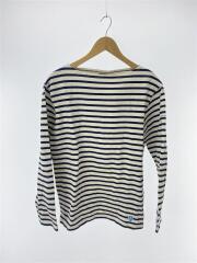 バスクシャツ/長袖Tシャツ/SIZE:4/コットン/ホワイト/ネイビー/ボーダー