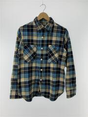 ネルシャツ/S/コットン/ブルー/チェック
