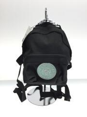タグ付/RS PAKR XS/ミニリュック/ポリエステル/ブラック