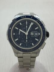 自動巻腕時計・アクアレーサー500Mクロノグラフセラミック/アナログ/ステンレス/NVY/CAK2112/クロノグラフ ダイバーズ AQUA RACER