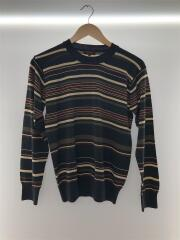 セーター(薄手)/M/ウール/マルチカラー/ボーダー/PC-OR-39048