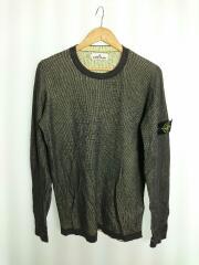 554A7/Sweater/コットンニットセーター/S/コットン/GRY/YLW