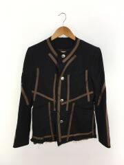 19AW Short Chanel Jacket/S/ウール/BLK