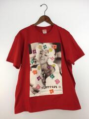 naomi tee/Tシャツ/M/コットン/RED/プリント