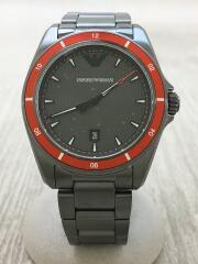 エンポリオアルマーニ/クォーツ腕時計/アナログ/ステンレス/BLK/GRY/AR-11178