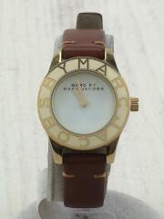 マークバイマークジェイコブス/クォーツ腕時計/アナログ/レザー/WHT/BRW/MBM8576