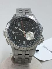 ハミルトン/カーキ/クォーツ腕時計/アナログ/ステンレス/BLK/SLV/H776121///クロノグラフ/KHAKI ETO//