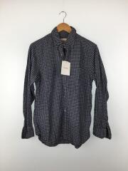 パパス/長袖シャツ/M/コットン/BLU/チェックシャツ