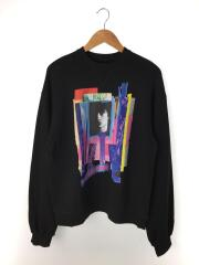 クリスチャンダダ/スウェット/48/コットン/BLK/Graphic Print Sweatshirt/19SS