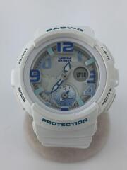 カシオ/クォーツ腕時計・Baby-G/アナログ/WHT/BGA-190-7BJF