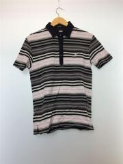 バーバリーブラックレーベル/Tシャツ/2/コットン/BLK/ストライプ