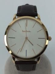 ポールスミス/P10053/クォーツ腕時計/アナログ/レザー/SLV/BRW