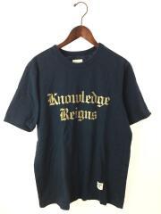 シュプリーム/13SS/Knowledge Reigns Tee/Tシャツ/M/コットン/NVY