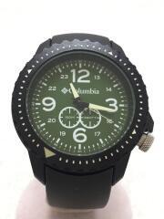 クォーツ腕時計/アナログ/セラミック/GRN/BLK