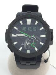 カシオ/ソーラー腕時計・PROTREK/デジアナ/ラバー/BLK/BLK/プロトレック 電波 MULTI FIELD LINE  PRW-7000-1AJF