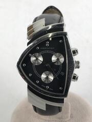 ハミルトン/H244121/クォーツ腕時計/アナログ/レザー/BLK/BLK