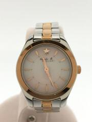 アニエスベー/V117-0AH0/ソーラー腕時計/アナログ/ステンレス/PNK/GLD