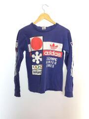 アディダス/90s/札幌オリンピック/長袖Tシャツ/S/コットン/NVY/USA製