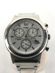 タイメックス/クォーツ腕時計/アナログ/ステンレス/WHT/SLV