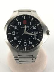 ビクトリノックス/クォーツ腕時計/アナログ/ステンレス/BLK/SLV