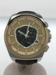 ポールスミス/E610-S074207/ソーラー腕時計/アナログ/レザー/GLD/BRW