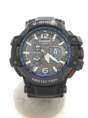 カシオ/GPW-1000/クォーツ腕時計/アナログ/ラバー/BLK/BLK