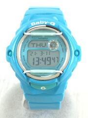 クォーツ腕時計・Baby-G/デジタル/BLU