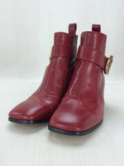 Leather boot with buckle/ジョッパーブーツ/5 1/2/タイガーバックル/437325