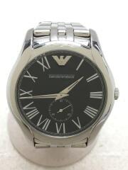 クォーツ腕時計/アナログ/ステンレス/ブラック/シルバー/AR-1706