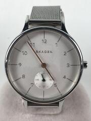 クォーツ腕時計/アナログ/ステンレス/WHT/SLV/SKW1099