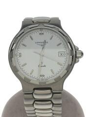 腕時計/アナログ/WHT/SLV