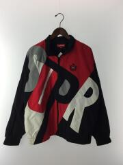 2020SS/Week8/Big Letter Track Jacket/L/ナイロン/レッド/トラックジャケット