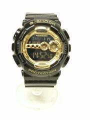 カシオ/GD-100GB/クォーツ腕時計/アナログ/CML/BLK