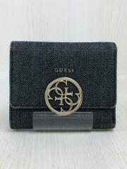 2つ折り財布/キャンバス/IDG/無地
