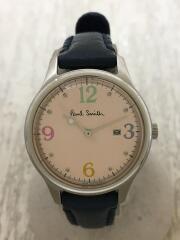 クォーツ腕時計/アナログ/レザー/PNK/1012-T020828