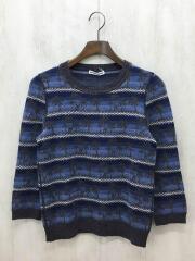 セーター(厚手)/--/ウール/BLU/140cm